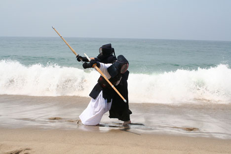 Kendo at the Beach